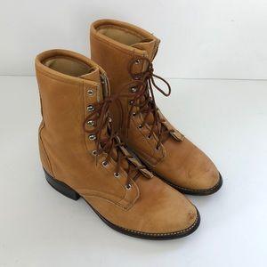 Laredo Vintage Boho Lace Up Ankle Boots